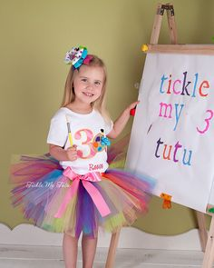 Art Party Birthday Tutu Outfit by TickleMyTutu on Etsy, $54.95