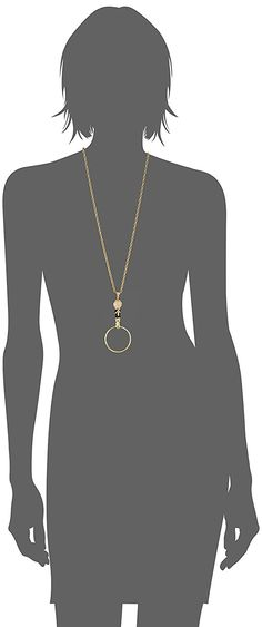 1928 Jewelry 14k Gold Dipped River Stone Semi Precious Gemstone Magnifier Pendant Necklace, 30' *** Visit the image link for more details. #JewelryForSale