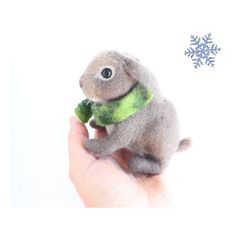Needle Felted Bunny or Rabbit, Soft Sculpture, Felted Handmade... ($48) ❤ liked on Polyvore featuring woolpaw