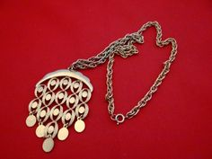Heavy and high end constructed Vintage 20 gold  necklace by jeanmc, $15.00