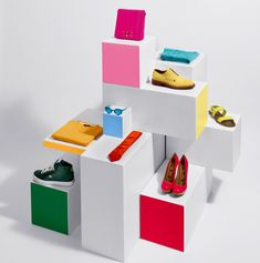 Frank Hulsbomer — Still Life — Nice use of colour blocks & white accents for merchandising