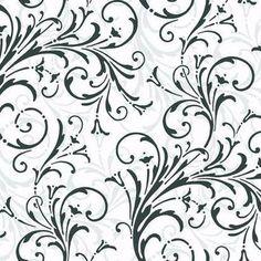 Black & White Book Layered Scroll Wallpaper - KD1726