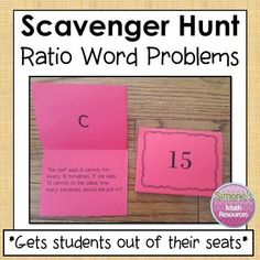 This activity gets students out of their seats. Students get to work at their own pace and think it's a game. They are highly motivated to complete a question since they can self check and get immediate feedback.  Students will complete a problem and then look for the answer on top of a different card. Students can complete this in pairs, small groups, or individually. Can be used whole group or in a center. If you laminate the cards, they will stand up like tents on the desks.