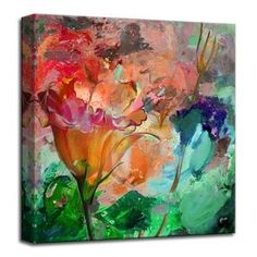 Ready2HangArt 'Painted Petals LXI' Gallery-wrapped Canvas Wall Art | Overstock.com Shopping - The Best Deals on Gallery Wrapped Canvas