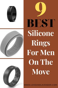 They're so practical, a lot of guys (and women) are asking why the heck silicone rings weren't on the scene sooner? These durable rings are becoming especially popular among men who play sports or whose jobs are particularly unforgiving to wedding bands. This is why we put together a short guide to the 9 Best Silicone Rings For Men On The Move. Get started! #rings #weddingrings #siliconerings #mensrings #engagementrings