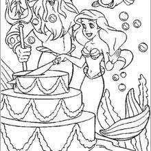 Easy Ariel Coloring Pages