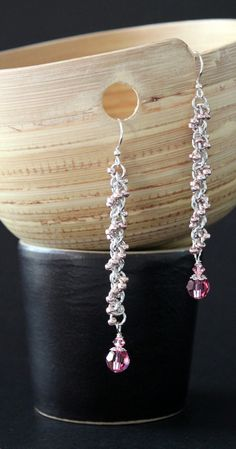 Chain Maille Earrings E015