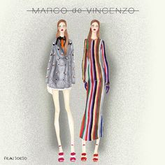 Something of new in fashion world @marcodevincenzo .. He is so talented and creative ! Stand up for the collection fw15-16 ❤️ ️illustration by #franiorio #marcodevincenzo