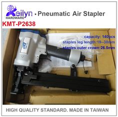 239.00$  Watch now - http://alig9j.worldwells.pw/go.php?t=2048311396 - P2638 KMT Industrial  Air stapler Pneumatic Code Nail GunMade in Taiwan, high quality standard