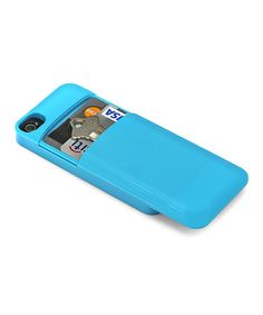 Take a look at this Blue Credit Card Case for iPhone 4/4s by Aduro on #zulily today!