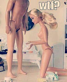 Poor barbie... #funny