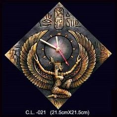 Egypt Eagle terracotta clock