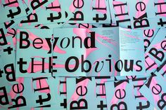 Beyond The Obvious on Behance
