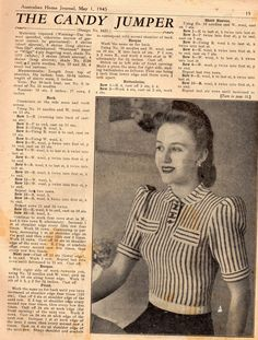 AHJ May 1945- Fashion Primary Source Material « 3 Hours Past the Edge of the World