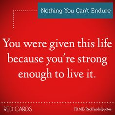 Nothing You Can't Endure