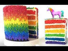 ▶ RAINBOW CAKE UNICORN How To Cook That Rainbow Cake by Ann Reardon - YouTube
