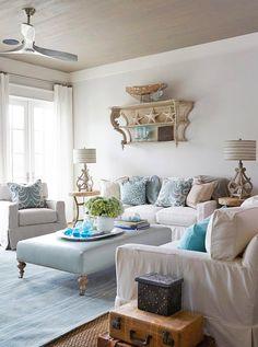 coastal family room | Georgia Carlee