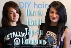 DIY Hair: How to Install Tape-In Hair Extensions