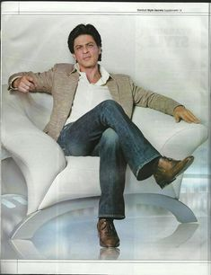 Shahrukh Khan - Star Dust Style Secrets September 2013  Embedded image permalink