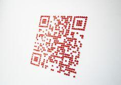 #QR Code made of stick on gems
