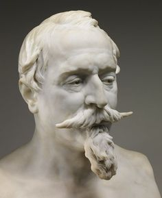 Bust of Napoleon III, 1873 Jean-Baptiste Carpeaux (French, 1827–1875) Marble - Source: Met Museum - And might we add that his mustache is on point!