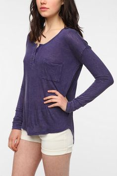 Staring at Stars Overdyed Henley  #UrbanOutfitters