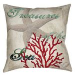 Treasures of the Sea Printed Throw Pillow