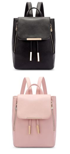 Which color is better? I like the pink!! I want to buy this backpack for my sister! #backpack #school #brown #retro #bag #college
