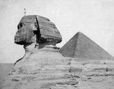 The Great Pyramid and the Sphinx, photograph by C. Zangaki ca. 1880