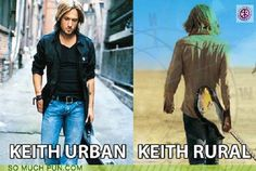 Put him in a cul-de-sac, and you have Keith Suburban! Funny Puns, Hilarious, Funny Stuff, Random Stuff, Music Competition, The Power Of Music, Country Music Singers, Music Memes, Keith Urban