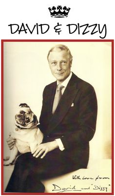 The Duke of Windsor with his pug Dizzy