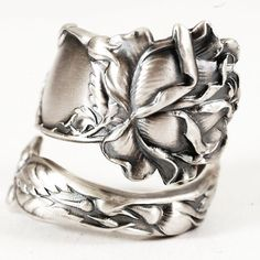 Spoon Ring Bridal Rose Sterling Silver by Alvin Co by Spoonier, $67.00