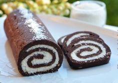 RULADA DE BISCUITI CU NUCA DE COCOS Romanian Desserts, Romanian Food, Sweets Recipes, Cookie Recipes, Food Cakes, Amazing Cakes, Coco, Sweet Treats, Deserts