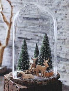 Die Glasglocke in 43 schönen Fotos mit vielen Ideen - # Ideen Christmas Jars, Mini Christmas Tree, Christmas Bells, Christmas Crafts, Minimal Christmas, Simple Christmas, Winter Christmas, Natural Christmas, Elegant Christmas