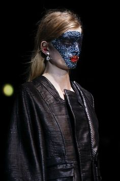 Givenchy Spring/Summer 2014 Beauty By Pat McGrath using Swarovski crystals