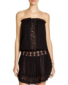 Surf Gypsy Crocheted Strapless Dress Swim Cover Up