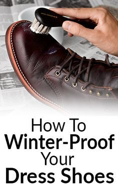 How To Winter-Proof Shoes | Protect Footwear In Winter | Sole Protector | Weather-Proofing Shoes