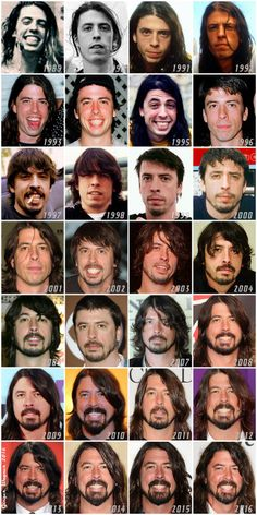 My original collage of 28 years of Dave Grohl