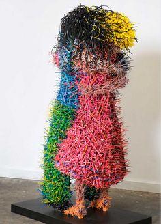 Arte con lapices de colores