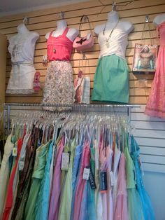 This is 1 drop off of consignment dresses for the PROM season just in today 70 pieces today.