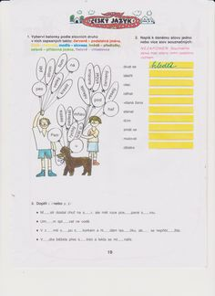 český jazyk Worksheets, Bullet Journal, School, Literacy Centers, Countertops