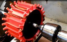 RED stator ver under the test Wind Turbine Kit, Diy Kits, 3d Printing, Prints, Projects, Red, Wind Turbine, Impression 3d, Blue Prints