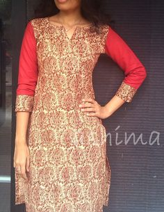 Kalamkari Cotton Kurta-Code:1305150 Rs.990/- All sizes available.  Free shipping to all courier destinations in India. Online payment through PayUMoney / PayPal