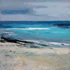 Atlantic Coast 1. Acrylic and mixed media on linen 90cm x 90cm. 2012.(sold).
