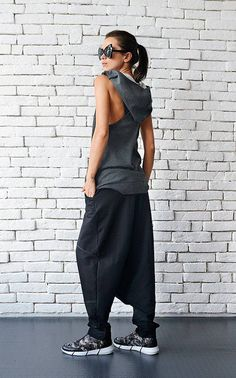 890be978 Extravagant Black Pants/Loose Casual Pants/Comfortable Drop Crotch  Pants/Oversize Harem Pants/Wide Leg Hippie Pants/Long Black Trousers