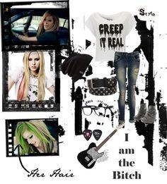 """Rocker Style"" by szellnermoyano ❤ liked on Polyvore"