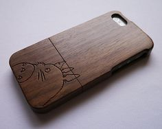 Wood iPhone 5 case  totoro iPhone 5S case  Wood by BirdonTree, $23.99