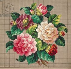 Wonderful Ribbon Embroidery Flowers by Hand Ideas. Enchanting Ribbon Embroidery Flowers by Hand Ideas. Hungarian Embroidery, Learn Embroidery, Rose Embroidery, Silk Ribbon Embroidery, Cross Stitch Embroidery, Vintage Embroidery, Embroidery Thread, Cross Stitch Rose, Cross Stitch Flowers