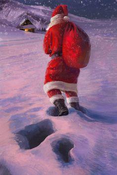 Santa Claus, Tymoteusz Chliszcz on ArtStation at https://www.artstation.com/artwork/n5B8o
