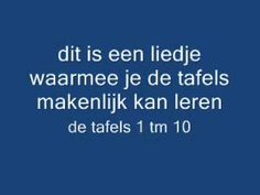 tafel lied / tafelliedje tafels 1 t/m 10 - YouTube